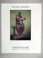 Henry Moore Art Gallery Exhibit PRINT AD - 1989 ~~ Mother And Child with Apple