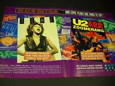 U2 and TINA TURNER tough to follow..hard to top SUPERSIZED 1993 PROMO DISPLAY AD
