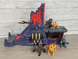Rare Disney Lion Guard King Hyena Bunga Hideout With Kion Figure Playset