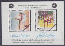 Bund Sporthilfe Entwurf Block 1995 **, Haller u. Lüdtke, postfrisch, MNH