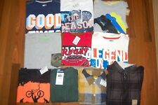 NWT Boys 7 7/8 HUGE Crazy 8 TCP Jumping Beans Lot of 10 Short & Long Sleeve Tops