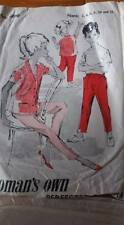 so OLD truely  VINTAGE WOMAN'S OWN paper SEWING PATTERN shirt trousers