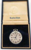 .1923 HAMILTON 912 12S 17J DIGITAL SECONDS POCKET WATCH W/ 14K G.F. CASE + BOX