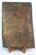 Antique Tamra Patra Copper Plate Letter Extreme Rare Unique collectible. G28-12