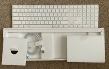 NEW APPLE Magic Keyboard with Numeric Keypad & Magic Trackpad 2 - Silver (White)