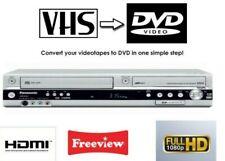 PANASONIC DMR-EZ45 VHS VCR DVD Recorder Combi Copy Video to DVD SD Card Slot
