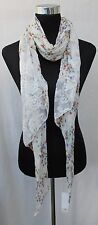 LADIES MARKS AND SPENCER CREAM BUTTERFLY AND FLORAL DESIGN SCARF