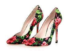 LUXUS MIU MIU PUMPS SCHUHE 5I9052 PINK FLORAL NEU 39 39,5 UK 6
