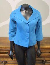 ANN KLEIN Blue 100% Cotton Button Up Jacket - 6P