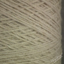 ALPACA WOOL YARN ARAN / DK 500g CONE 10 BALL CREAM LIGHT BEIGE DOUBLE KNITTING