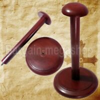 ARMOR HELMET WOODEN STAND BLACK WOODEN STAND FOR DISPLAY POST FOR HELMET STAND