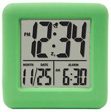 70903 Equity by La Crosse Green Soft Cube Lcd Digital Alarm Clock - Refurbished