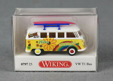 """WIKING 079725/0797 25 (H0, 1:87) VW T1 Bus """"Love and Peace Happiness"""" NEUWARE!"""