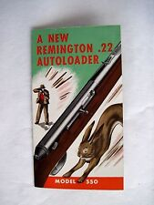 Great Vintage Advertising Booklet for Remington .22 Autoloader Rifle w Rabbit *
