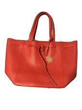 Red Tote ELIZABETH ARDEN Gift Bag  Purse NEW with Tag & Metal Snowflake Ornament