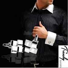 Handmade Men's Silver Plated Formal/Wedding Groom Cufflinks #15