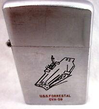 U.S.S Forrestal CVA-59 Champ-De-Luxe Austria Cigarette Lighter