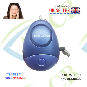 Police Approved Keyring Personal Panic Rape Attack Safety Security Alarm 140db