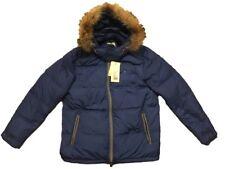 J.Lindeberg Tunk Nylon Down Jacket Sz:XL Coat Blue Golf Cream Casual Italia Rare