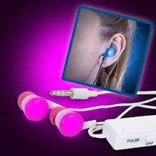 Blink Budz  - Light Up Flashing Ear Bud Earphones - Pink