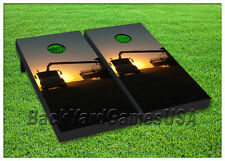 VINYL WRAPS Cornhole Boards DECALS Farm Hay Swather Bag Toss Game Stickers 245