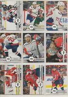 WASHINGTON CAPITALS ~ 2019-20 Upper Deck TEAM SET ~ 13 Hockey Cards ~ OVECHKIN
