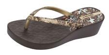 Sandali e scarpe zeppi per il mare da donna oro gomma
