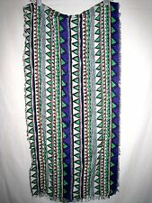 Ethnic Viscose Wrap Shawl Scarf • Geometric Multi Color • Boho • NWOT!