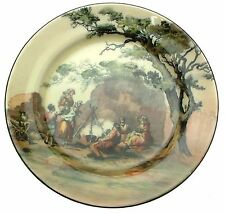 c1920 Royal Doulton The Gipsies D3191 Campfire Scene Old English Scenes 10.5