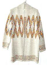 Debut Size M/L Tribal Geometric Pattern Cardigan Sweater