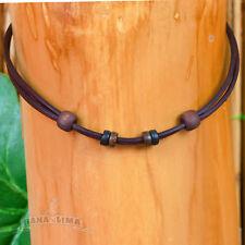 Lederkette Lederband braun verstellbar für eigenen Anhänger Halskette Halsband