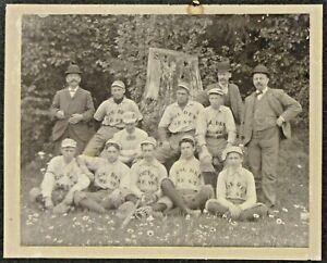 circa 1900-1901 GOLDEN WEST baseball Team Cabinet Photo