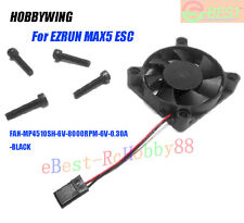 HobbyWing FAN-MP4510SH-6V-8000RPM-6V-0.30A-BLACK For EZRUN MAX5 Speed Controller