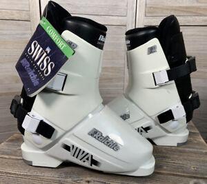 NWT! Vintage Raichle Viva Women's 5 Ski Boots White/Black