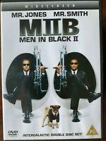 Uomo IN Nero 2 DVD 2002 II Fantascienza Commedia Film Con Will Smith + Tommy Lee