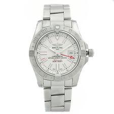 Breitling Avenger II GMT Acero Blanco Dial Automático Hombres Reloj A3239011/G778-170A