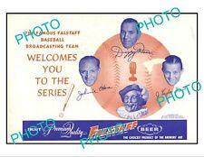 OLD 6x4 HISTORIC POSTER, ST LOUIS Mo 1942 FALSTAFF BEER BASEBALL WORLD SERIES