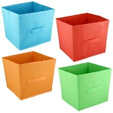 set of 2 large green fabric collapsible storage container cubes 105x11x105