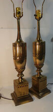 """Pair of cast brass Stiffel table lamps. 36"""" tall."""