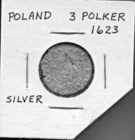 POLAND - BEAUTIFUL HISTORICAL SIGISMUND III SILVER 3 POLKER, (16)23, KM# 41