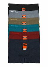 6 Pack Mens Seamless Modern Boxer Briefs NEW Knocker Plain Cool Lot MS053