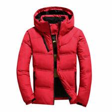 Men Winter Warm Detachable Hooded Down Puffer Coat Lightweight Zipper Jacket