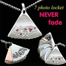 Unusual 6 -7 photo Locket Necklace Women Gifts For Her Mum Grandma Daughter wife