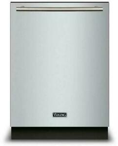"""Viking 24"""" Stainless 42dB LCD Control Panel Integrated Dishwasher VDWU524SS"""