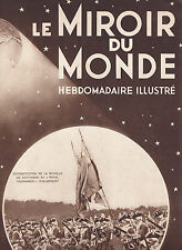 Le Miroir du monde N°13 du 31 mai 1930 Quartier Latin Fezzan aviation
