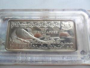 Singapore $100 Bird Series Silver Proof Ingot