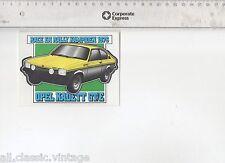 Decal/Sticker - Race&Rally Champion 1976 OPEL KADETT GT/E