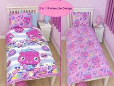 MOSHI MONSTERS POPPET 'VOGUE'SINGLE BED DUVET COVER 2 IN 1 REVERSIBLE OFFICIAL