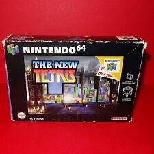 VINTAGE 1999 NINTENDO 64 N64 NUOVO TETRIS CARTUCCIA VIDEOGIOCO PAL BOXED