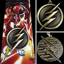 New DC Comics The Flash lightning Logo Gold 6cm Metal Keychain Keyring Hot
